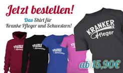 """Shirts """"Kranker Pfleger"""" / """"Kranke Schwester"""""""
